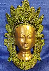 Tara Devi Brass Wall Sculpture