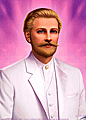 Saint Germain in White Suit  wallet card