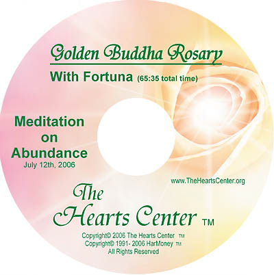 Golden Buddha Rosary CD with Fortuna