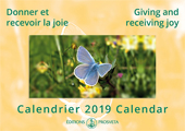 2019 Calendar: Giving and Receiving Joy - RETIRED