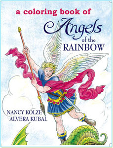 Angels of the Rainbow coloring book