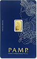 Lady Fortuna 24kt 1 Gram Gold Bar