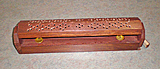 Wood Box Incense Burner