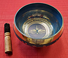 6 Inch Blue Brass Singing Bowl