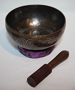 Large Buddha Engraved Singing Bowl (9 inch )