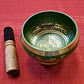 4 Inch Green Brass Singing Bowl