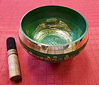 6 Inch Green Brass Singing Bowl