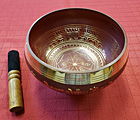 6 Inch Red Brass Singing Bowl