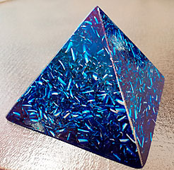 Large Blue Pyramid Orgonite