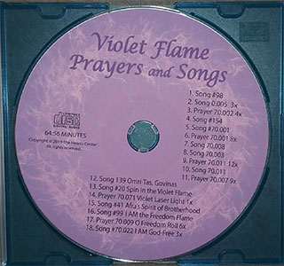 Violet Flame Prayers and Songs CD