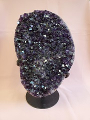 Large Amethyst Cluster With Stand