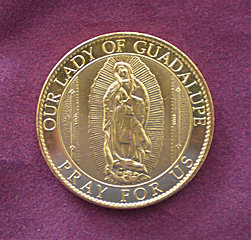 Virgin of Guadalupe coins