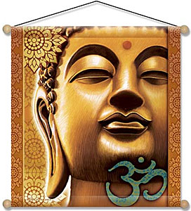 Meditation Banner - Golden Buddha